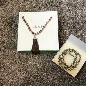 Vintage Stella & Dot Necklace & Bracelet Set